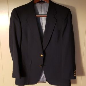 Hart Schaffner Marx Navy Wool Sportcoat 40R